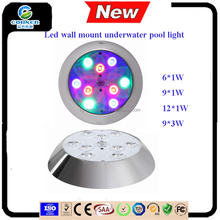 HJ8005h 6w/9w/12w/18w under water led pool light/underwater wall mount pool lamp