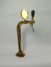 China single faucet cobra brass wine column beer tower gold Pvd plated