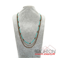 Handmade Boho Beads Chain Necklace For Women N3-7106-7150