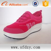 Fashion pink safety lady shoes casual women's sport walking shoes manufacturers