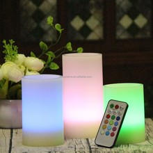 Hot sale color changing flameless led candle with remote control