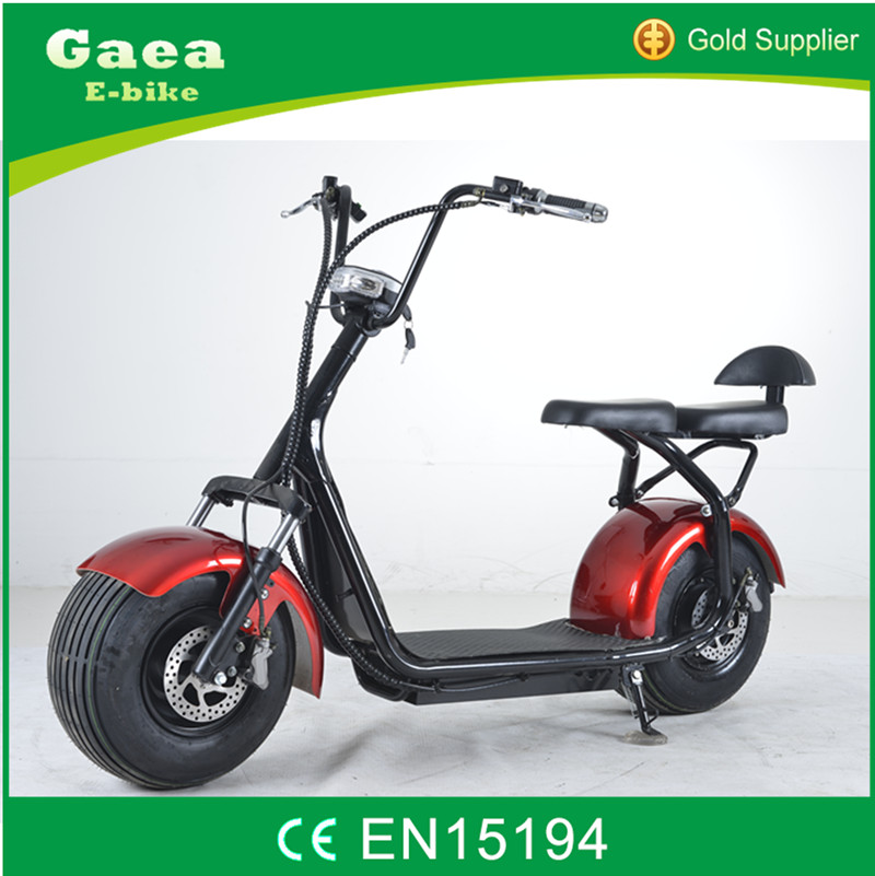 Gaea 1200w city coco motorcycle fat tire electric scooter 1000w for adults