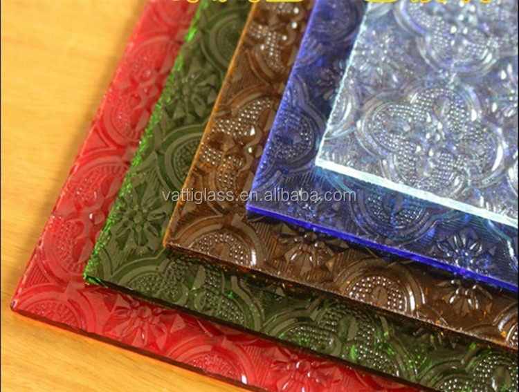 Domo High Quality Clear Patterned Glass Stained Glass For Interior Decoration