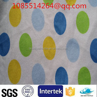 Printed cotton flannel fabric waterproof fabric for nappy pads for baby