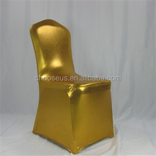 New Design Metallic Spandex Chair Covers Wedding Gold Chair Cover For Wedding