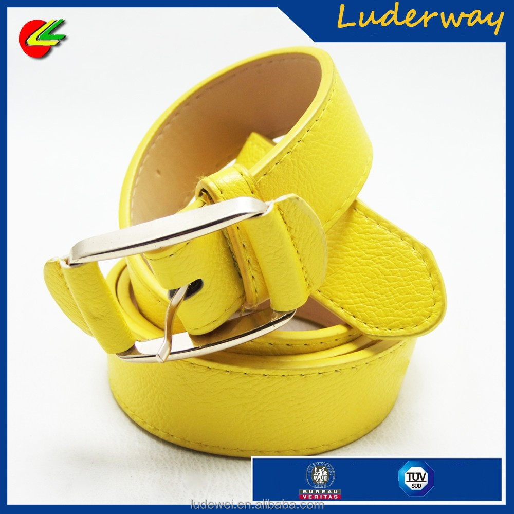 Simple Thick Yellow Lady Chastity Waist Sweat Woman Belt Manufacturer