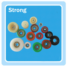 Round Belt U groove plastic small pulley with ball bearing
