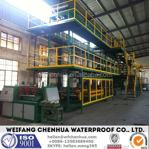Plants for the production of APP SBS modified bitumen membrane --- China factory sales and installation