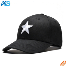 Spring Summer Autumn Embroidered Five-Pointed Star Hip Hop Hats Cap Men Women Twill Baseball Caps