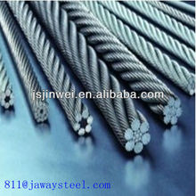 Flexible Stainless steel 7x19 wire rope with eyrlets(Dia:0.6mm,0.8mm,10mm,2mm,4mm,8mm,12mm,16mm,20mm)