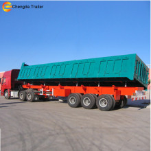china Factory Price three hydraulic axle trailers Tipper Trailer