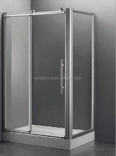 Walk in Wet Room Shower Enclosure Screen Cubicle Flipper Glass Panel Tray+Waste