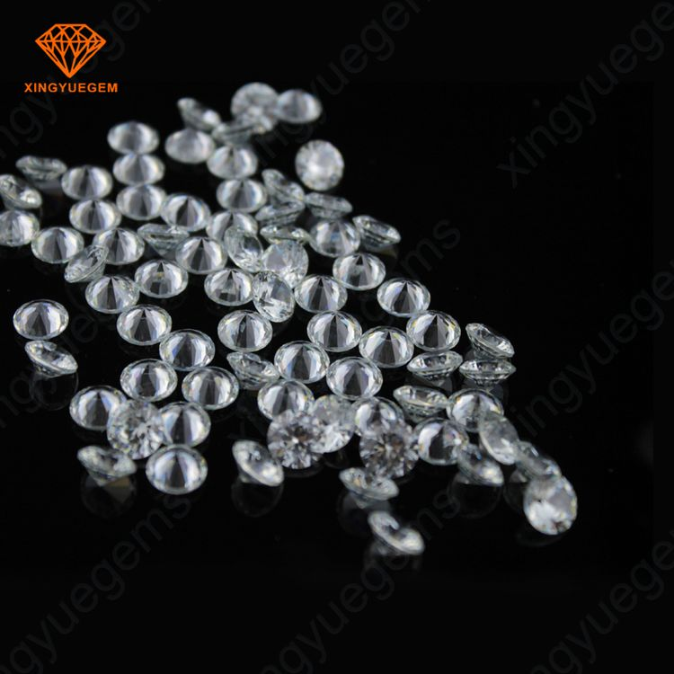 cubic zirconia white color round shape loose gemstone price list
