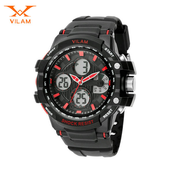 shenzhen factory stock multi function chronograph watch black sports watch accept bulk paypal