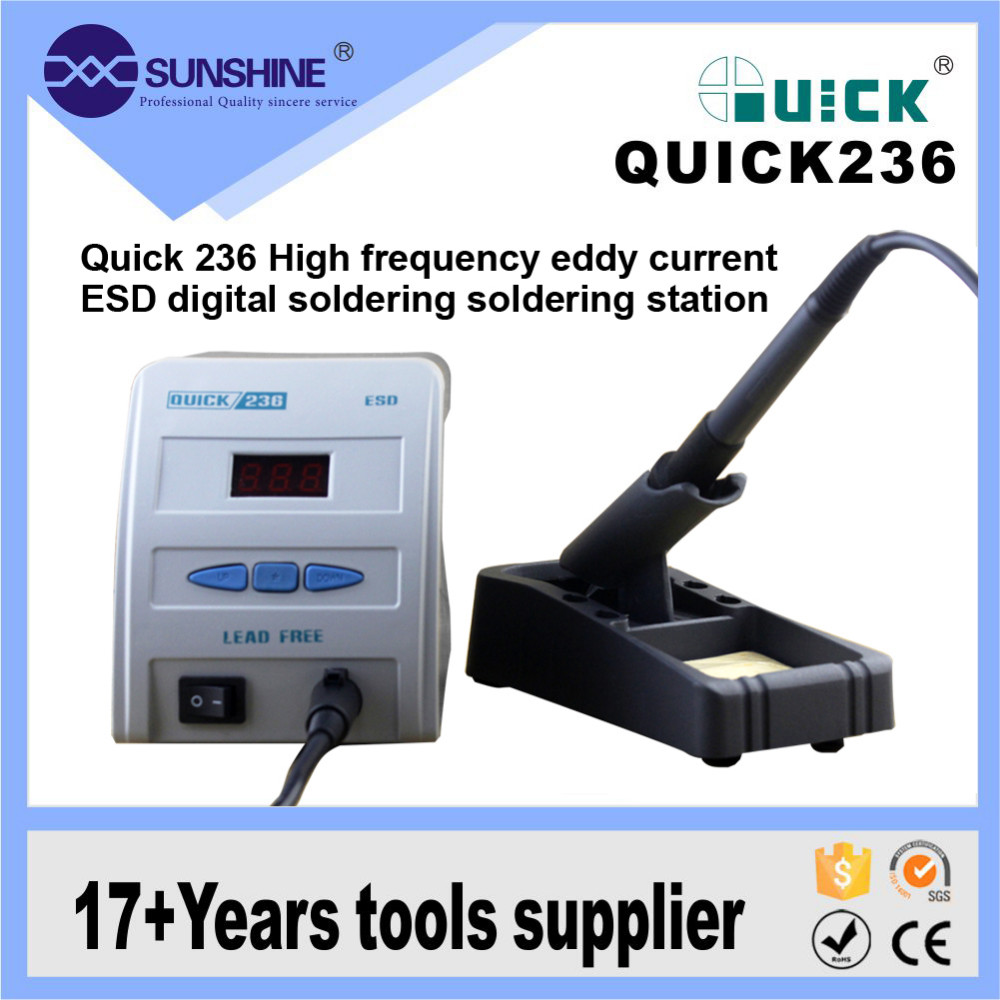 Original Quick236 Esd 90w Digital Anti-Static Lead-Free Hot Air Smd Soldering Station