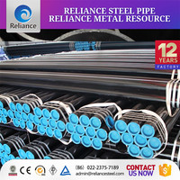 ERW LSAW welded black round steel pipe , carbon steel pipe