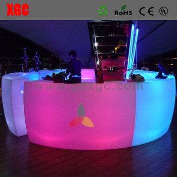 Starlish brand LED straight bar counter with RGB lights
