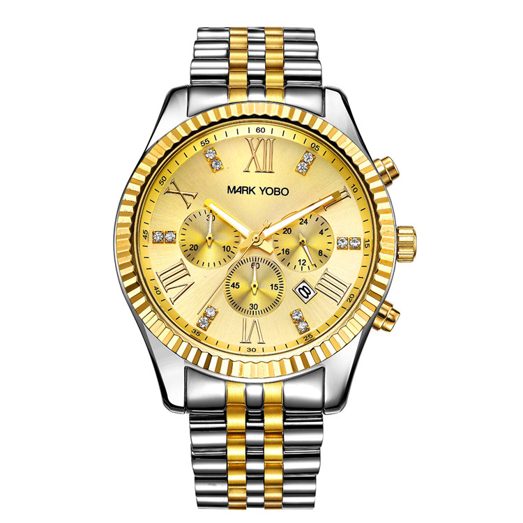 Fashion Roles Watches Men Gold Luxury Stainless Steel