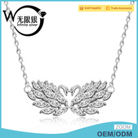 Infinite meaning eternal love couples Romantic Swan pendants necklace
