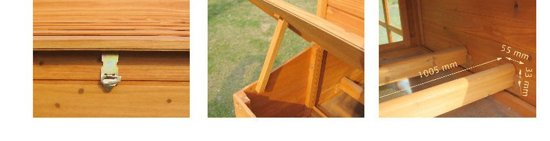 Wooden Chicken Coop with large run