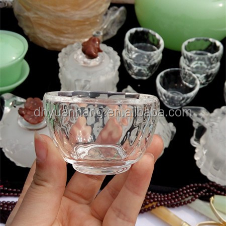 Practical synthetic quartz bowl, artificial crystal bowl,crystal singing bowls for home