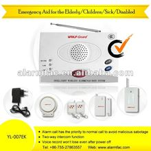Personal security devices Wireless eldery emergency calling alarm systems with panic push button