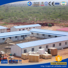cheap movable prefabricated house with floor chassis for sale