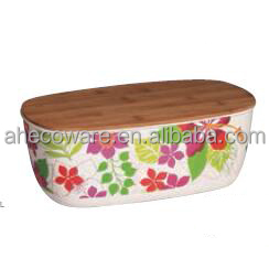 New-arrival food safe bamboo fiber Bread bins with Bamboo Lid
