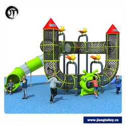 McDonalds Outdoor Playground Equipment With Slide And Climbing Net For Kids