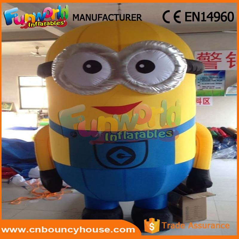 Customized 3D Eyes Minions Cartoon inflatable cartoon characters