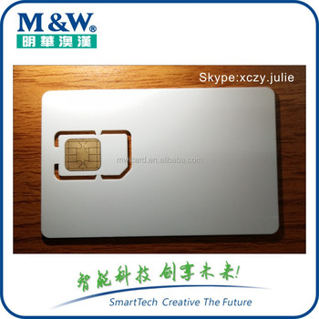 2017 2G/3G network test sim card for Mobile Phone Test Card factory