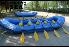Jiahai hypalon or PVC 6 to 8 person heavy duty white water inflatable rafting boat for sale!