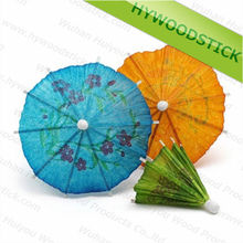 High Quality Colourful Paper Parasol Pick Umbrella Cocktail Picks