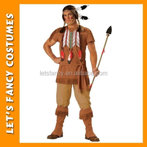 Male Mens Adult Native American Indian Brave Warrior Costume PGMC0903