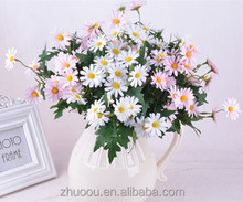 9 Fork Daisy Flower Cheap Silk Daisy Flowers Silk Flowers Artificial looks real for home decoration