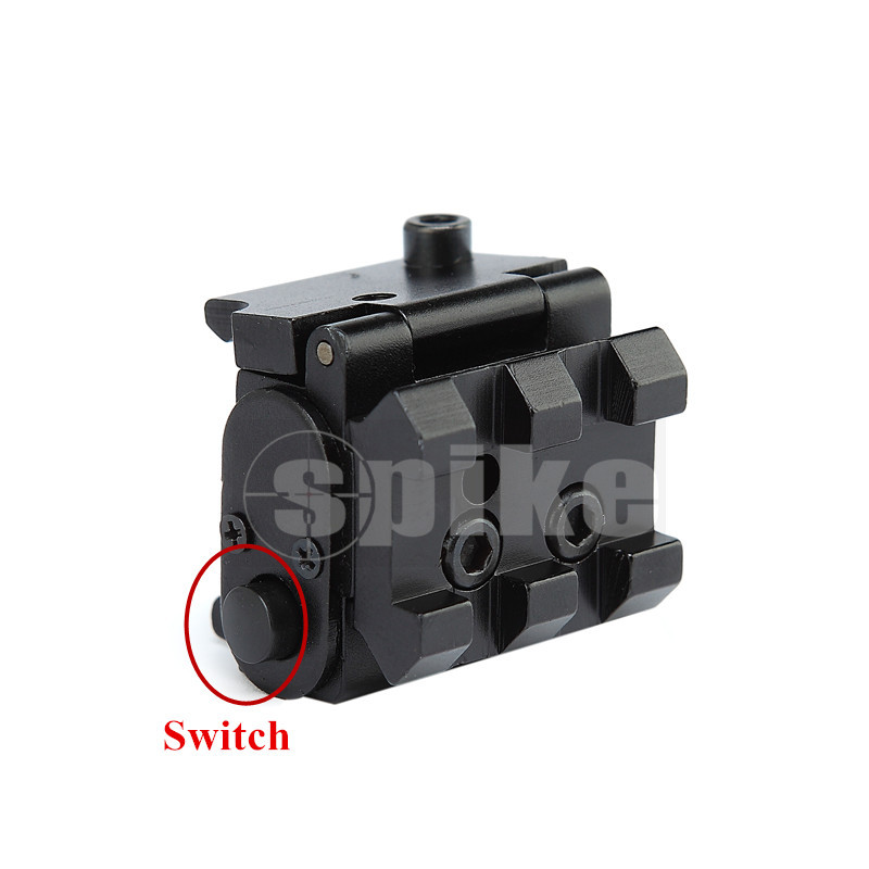 Spike JG11 Tactical Compact Pistol Low Profile Rifle Red Laser Dot Sight Scope with Rail Mount Black