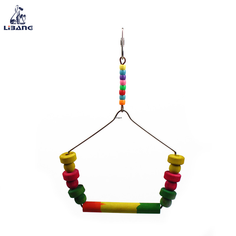 Simple Design Swing Hanging Wooden Balancing Bird Toy