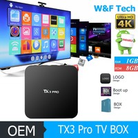 best selling 1gb/8gb s905x iptv box hd media player