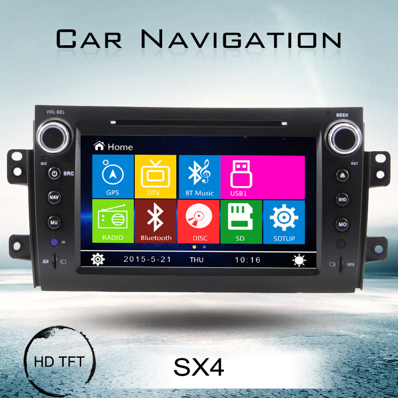 audio multimedia car entertainment system for suzuki sx4 navigation gps touch screen dvd player bluetooth video fm radio