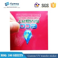 Custom transfer sticker label four color print transfer label 100 sheets wholesale