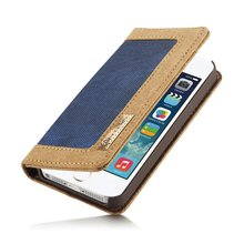 Caseme Jean series waterproof woven fabrics case for iphone SE/5/5S With inner card slot holder wallet flip case for iphone se