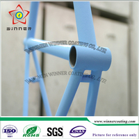 Outdoor bicycle stand use light blue powder paint