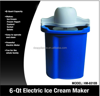6QT Plastic Ice Cream Maker
