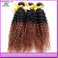 Double Strong Wefts beautiful curly hair malaysian kinky curly hair