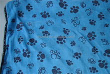 2015 newest Super absorbent pet paw printed dog microfiber drying towels