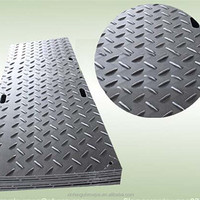 Anti-skid UHMW-PE car floor mat/ recycled material plastic ground protection mat