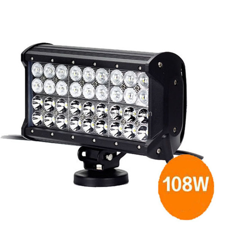 IP68 rechargeable geable high intensity 108W LED tractor working light