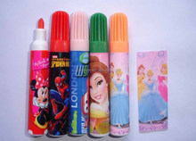 wenzhou factory CMYK printed safety kids water color pen