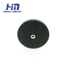 high power holding rubber coated pot magnet