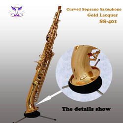 Professional gold lacquer Soprano Saxophone Woodwind Musical Instruments